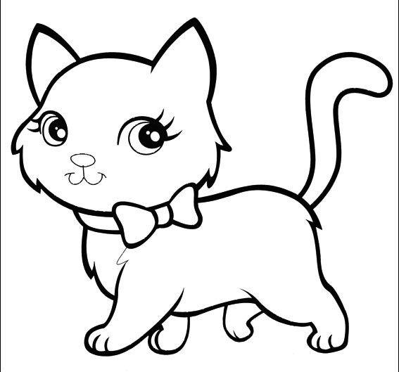 dessin de chat facile a imprimer gratuit   Dessin chat facile, Coloriage chat, Chat a colorier