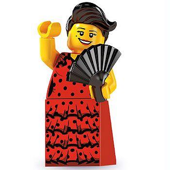 LEGO Flamenco Dancer Minifig Minifigure