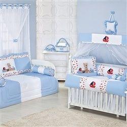 Quarto para Bebê Ursinho Marinheiro Azul Bebê