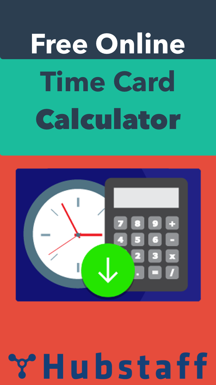Free Timecard Calculator | Calculating work, Calculator ...
