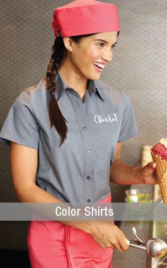 Restaurant Kitchen Uniforms color shirts for the kitchen and restaurant - http://www