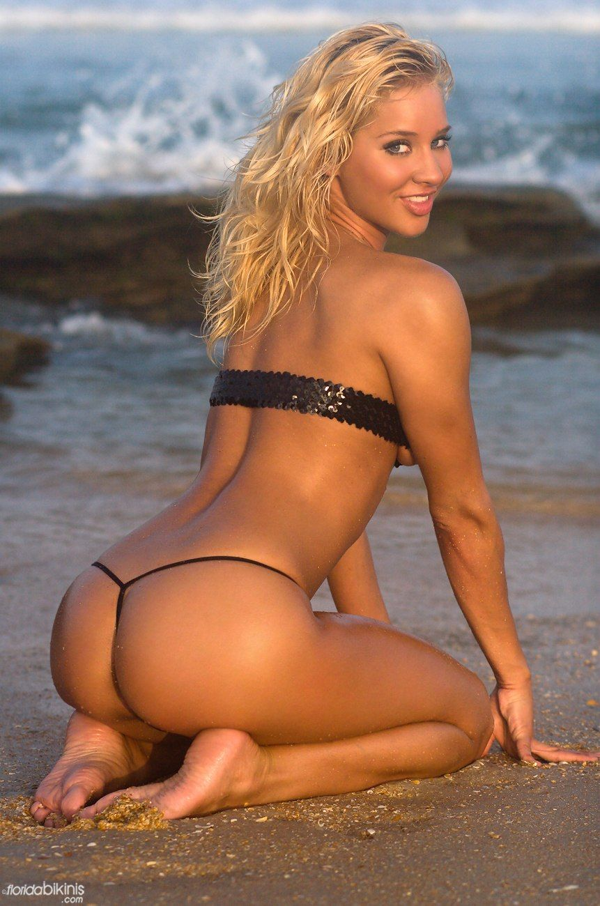 Beatiful string bikini model photos