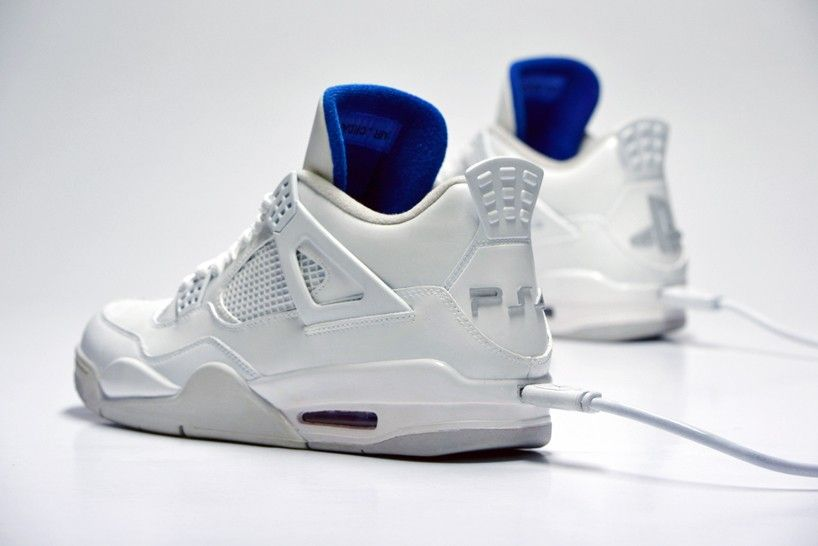 6b449db6f998 freakersneaks  JRDNS X PS4 white sneaker edition fuses NIKE and sony ...