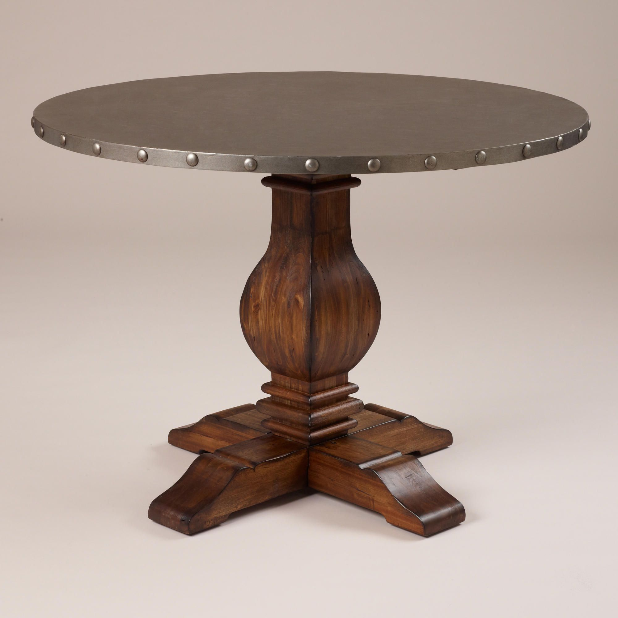 cooper round dining table - Copper Kitchen Table