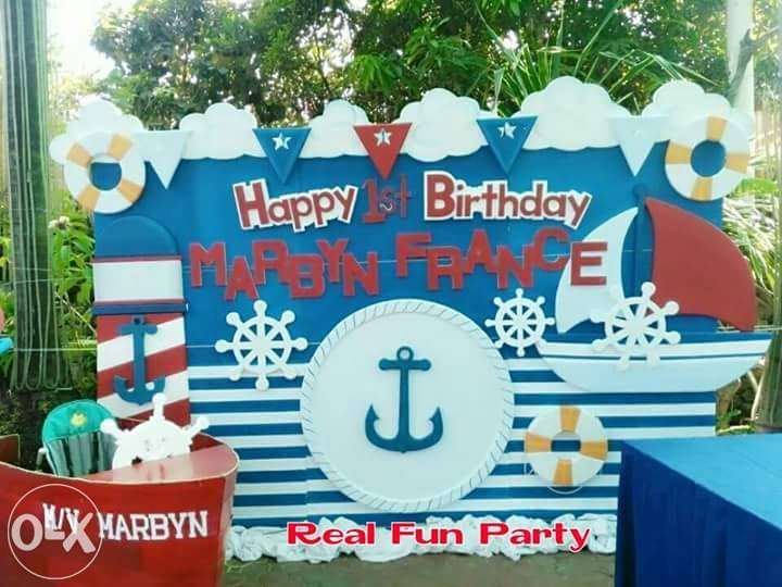 Nautical Themed Birthday Party Supplies Part - 28: View Nautical Themed Birthday Party Promo Package For Sale In Manila On OLX  Philippines. Or