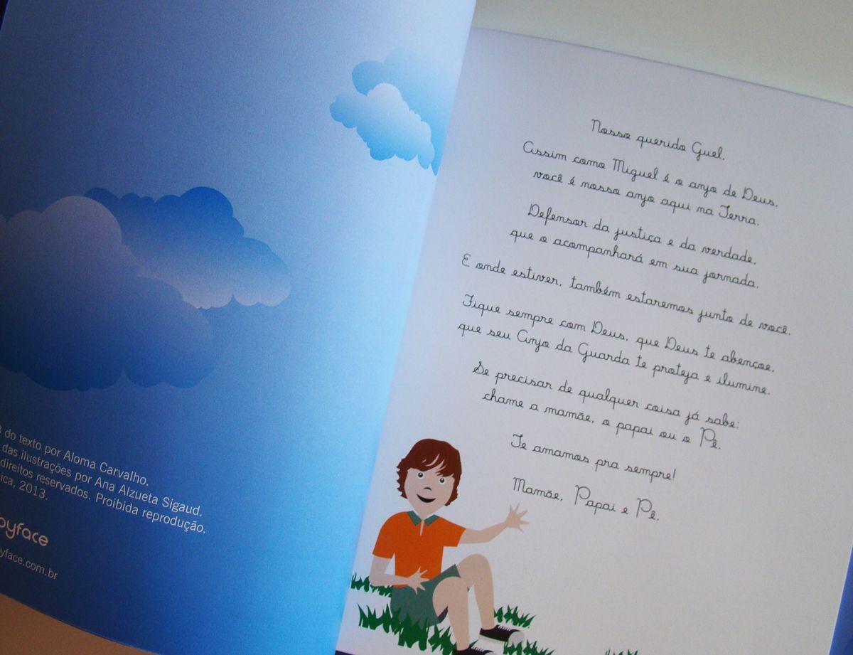 """""""Eu agradeço"""" é o livro especialmente elaborado para presentear as crianças nas celebrações religiosas. A ilustração é desenvolvida no estilo BabyFace© e traz o desenho especial da criança transformada em personagem. O texto traz ainda o nome da criança e o nome dos seus familiares. Na dedicatória, quem escreve o texto é você e são suas as palavras de homenagem à criança. #amolivros #presentediferente #presenteespecial #livro #anasigaud #mybabyface #obrigadadeus """