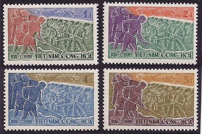 Viet Nam Sc#120-123 Volunteer Road Worker MNH - bidStart (item 40070122 in Stamps, Asia, Vietnam)