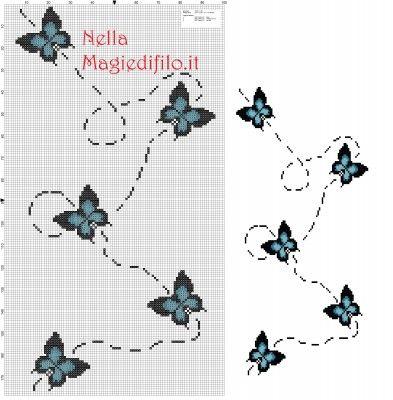 volo di farfalle schema punto croce gratis lo schema che