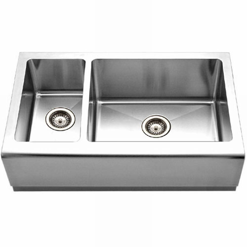 Epicure Series Farmhouse Apron Front Stainless Steel 33 In Double