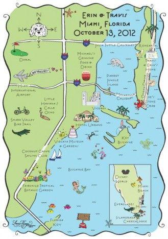 Maps Miami Fl Save The Date Laura Hooper Calligraphy Miami Map Miami Tourist Attractions Miami Tourist