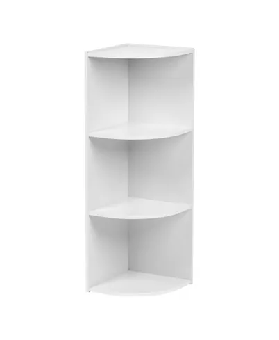 Iris Usa 3 Tier Corner Curved Shelf Organizer Reviews Furniture Macy S Corner Storage Shelves Storage Shelves Corner Storage