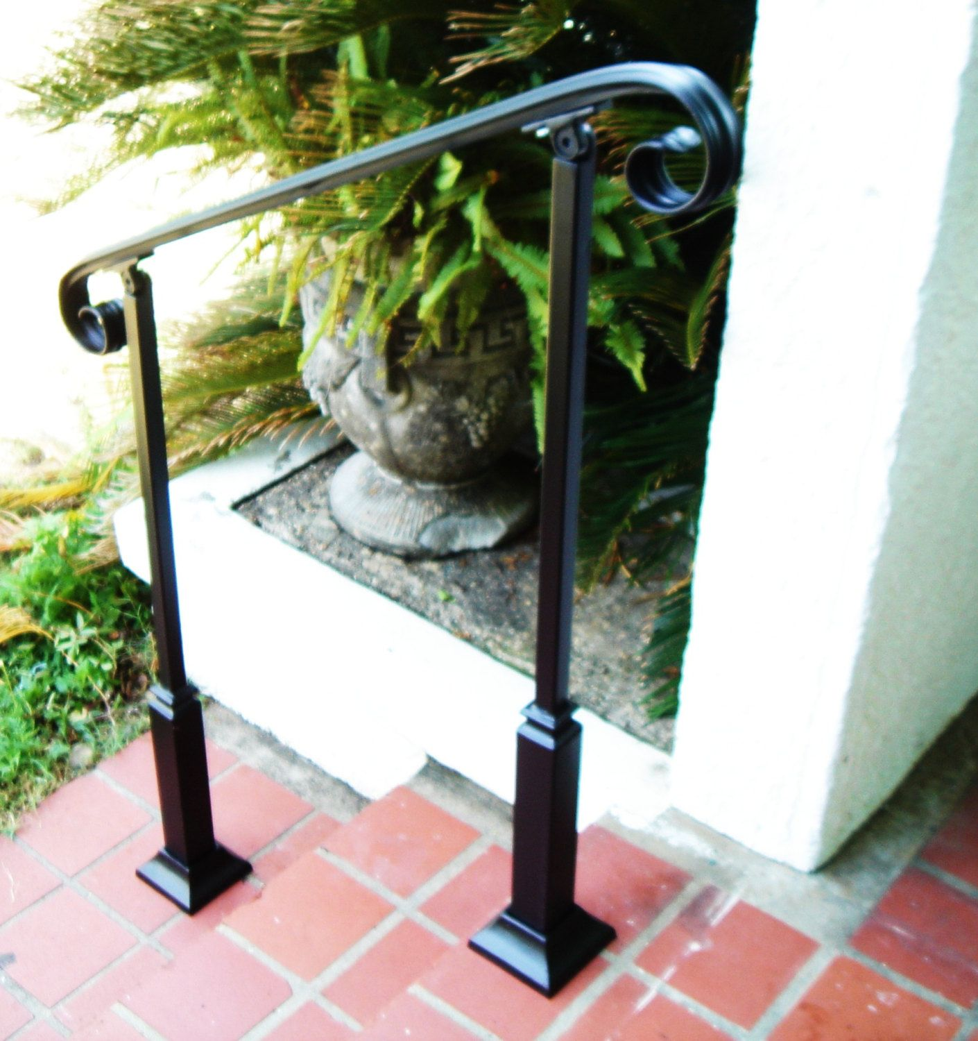 Best 3Ft Wrought Iron Handrail Step Rail Stair Rail With 400 x 300