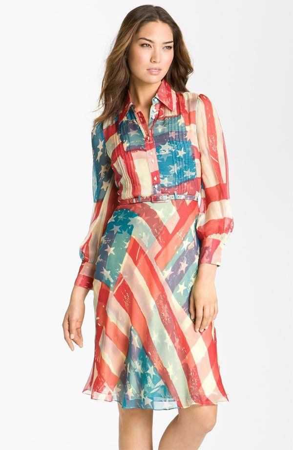 Catherine Malandrino Flag Print Shirtdress Nordstrom Fashion Dresses Womens Dresses