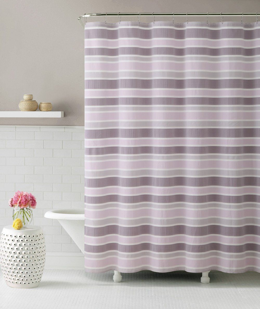 Royal Bath Ombre Cascade Pink Fabric Shower Curtain 72 X 72