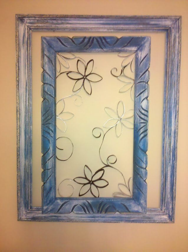 Wall art made with toilet paper rolls, hot glue, paint and a frame ...