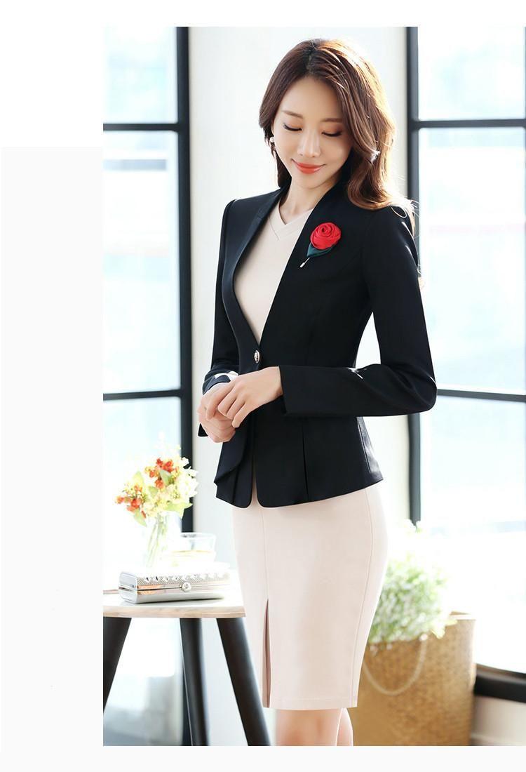 women formal short sleeve dresses with full sleeve blazer