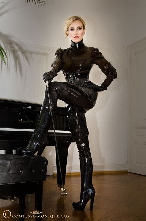 Leather dominatrix clothes