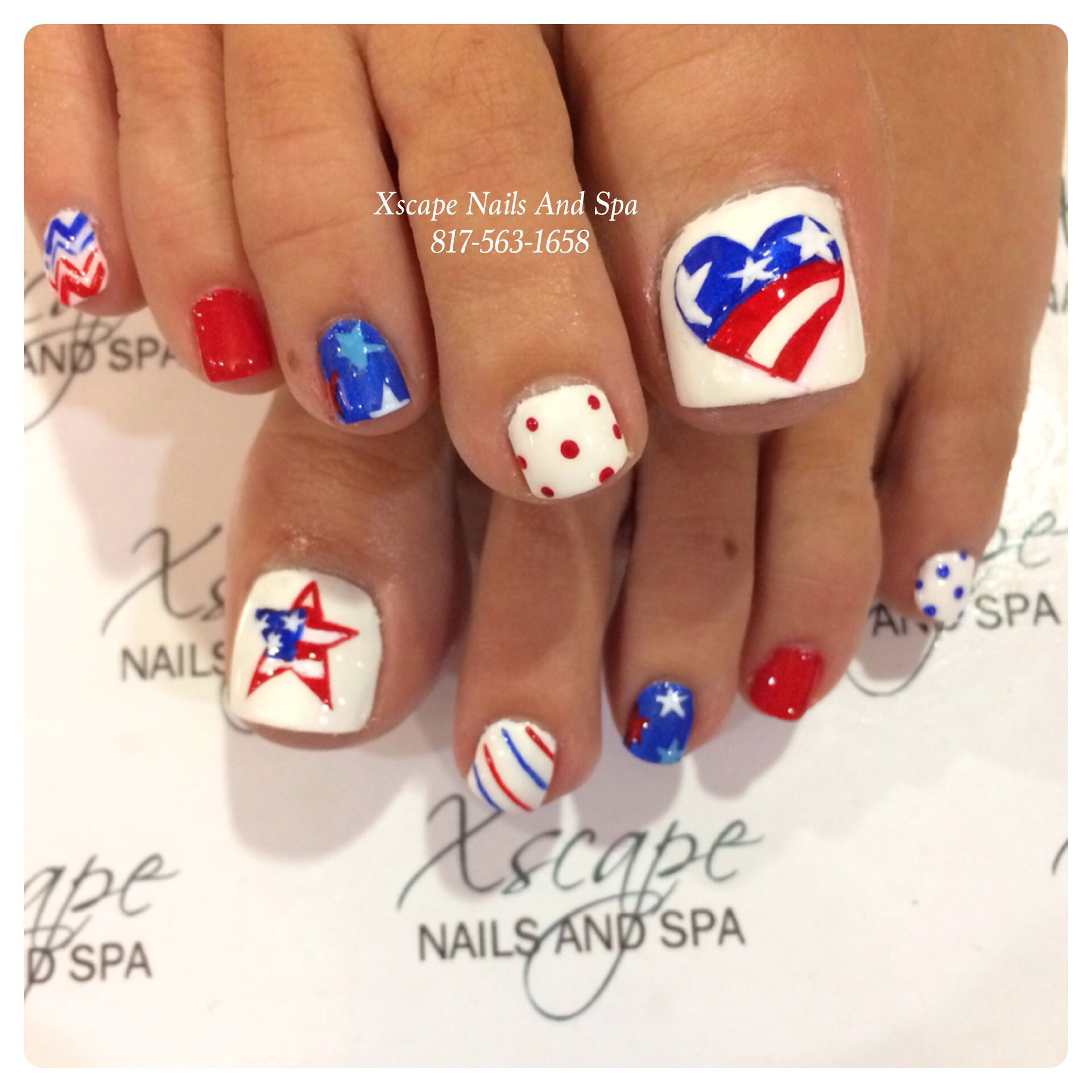4th of July nails | nails | Pinterest | Pedicures, Toe nail designs ...
