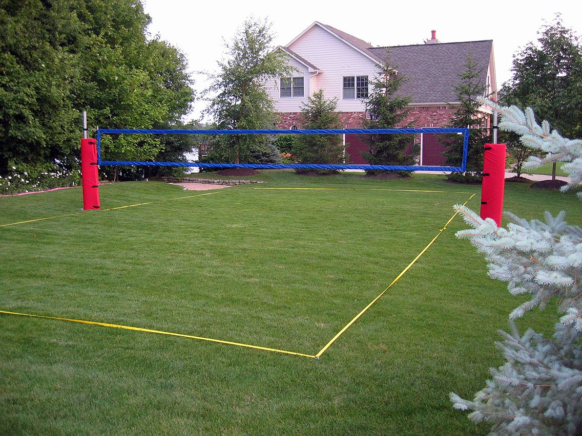 how to construct a grass / artificial turf volleyball court