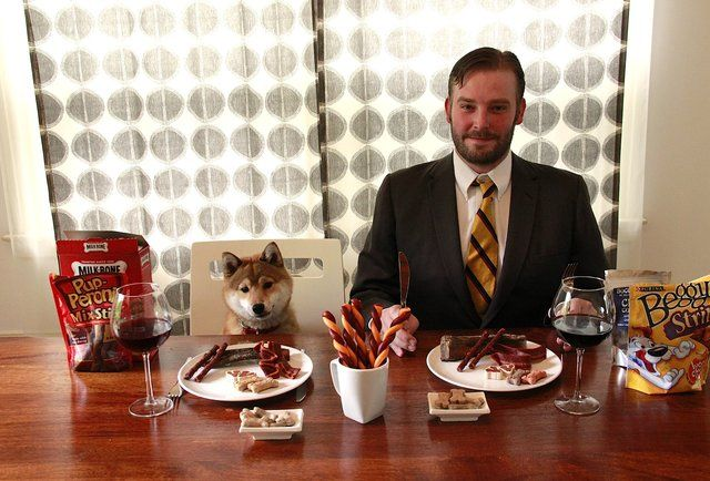 dog treat taste-test-Our editor and his puppy taste-test dog treats