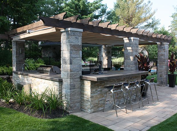 135 Outdoor Kitchen Ideas And Designs For 2019: Retractable Outdoor Kitchen Cover In Terrebonne
