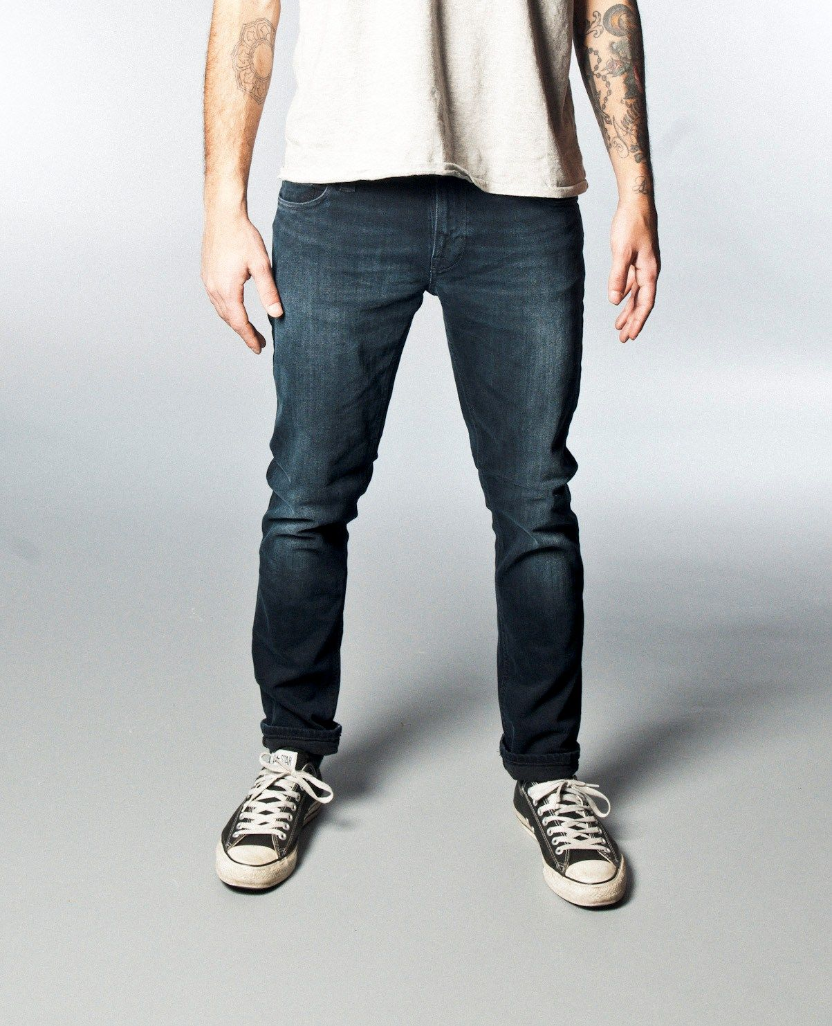 Tight Long John Org. Black And Grey - Nudie Jeans Company  204877413a62