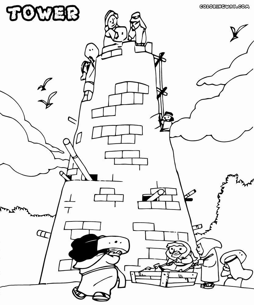 Tower Of Babel Coloring Page New Tower Coloring Pages Tower Of Babel Coloring Pages Coloring Sheets