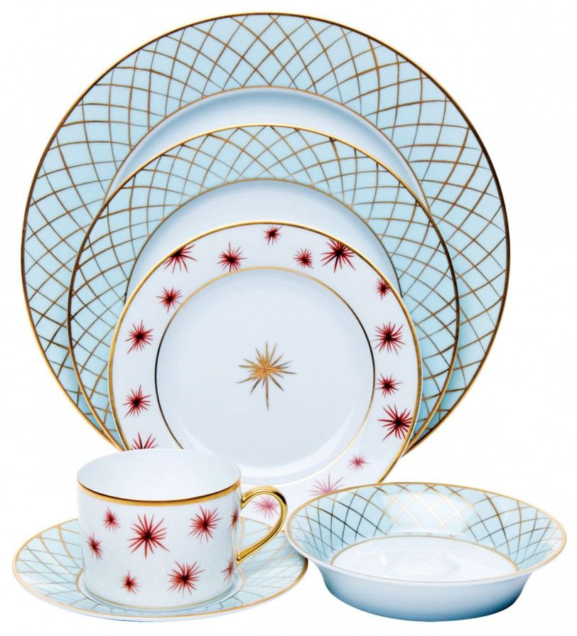 This French-made bone china blends fun art deco design with a sophisticated color  sc 1 st  Pinterest & This French-made bone china blends fun art deco design with a ...
