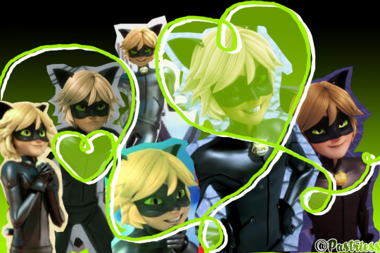 Is That Marinettes Laptop Background But With Chat Noir Instead Of Adrien