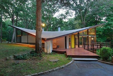 Butterfly Roof And Trees By James Evans New Cannan Connecticut