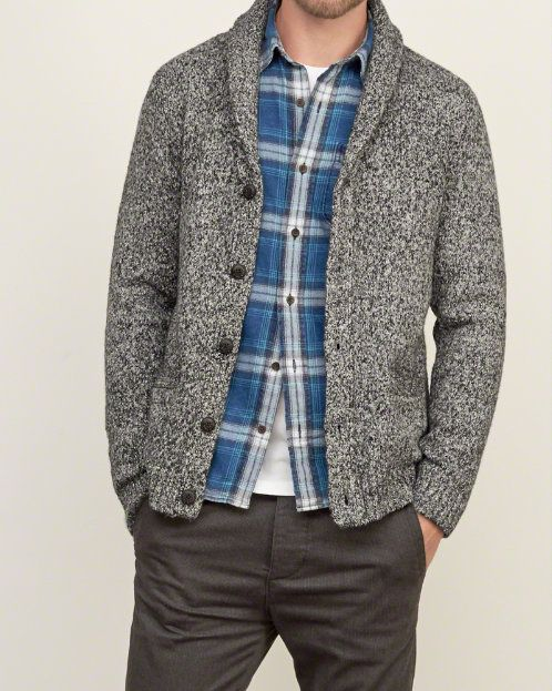 8be2c7de5 Mens Textured Shawl Cardigan