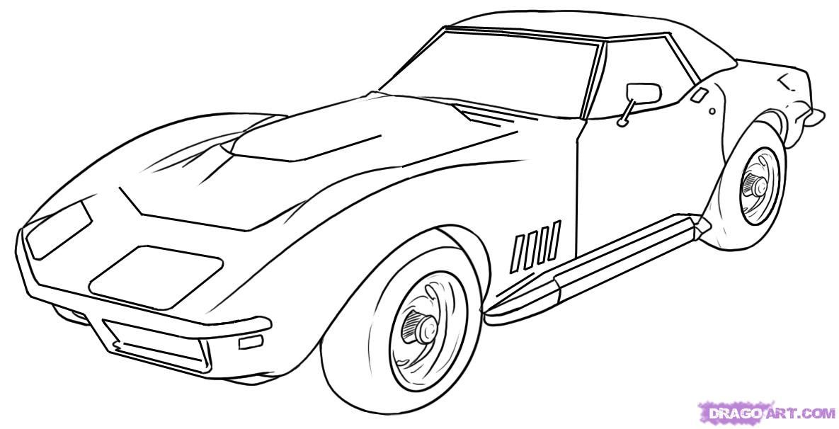 How To Draw A Corvette Step By Step Cars Draw Cars Online Cars Coloring Pages Coloring Pages Car Drawings