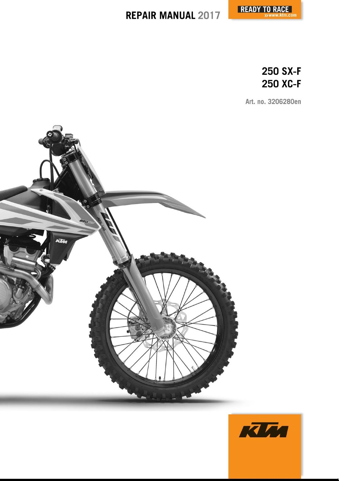 2017 KTM 250 SX-F XC-F Service Repair Manual 2017 KTM 250 SX