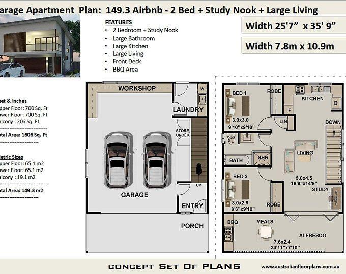 30x24 2 Car Garage 720 sq ft 12ft Walls PDF Floor Plan Instant Download Model 10J