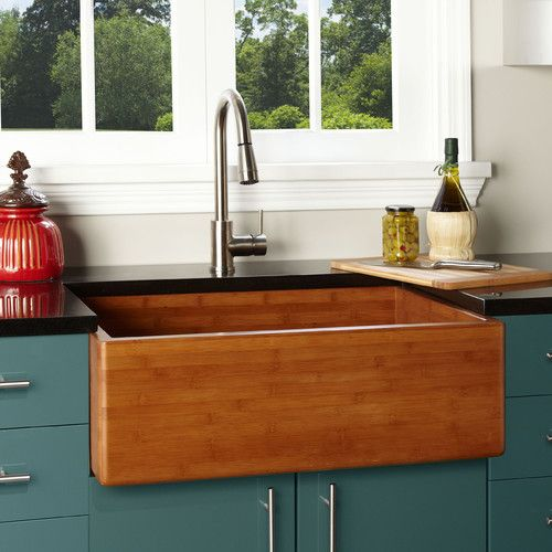 Galley Kitchen Sink: Wood Sink, Galley Kitchen Design