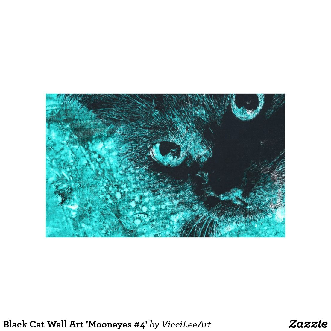 Black cat wall art umooneyes u artwork