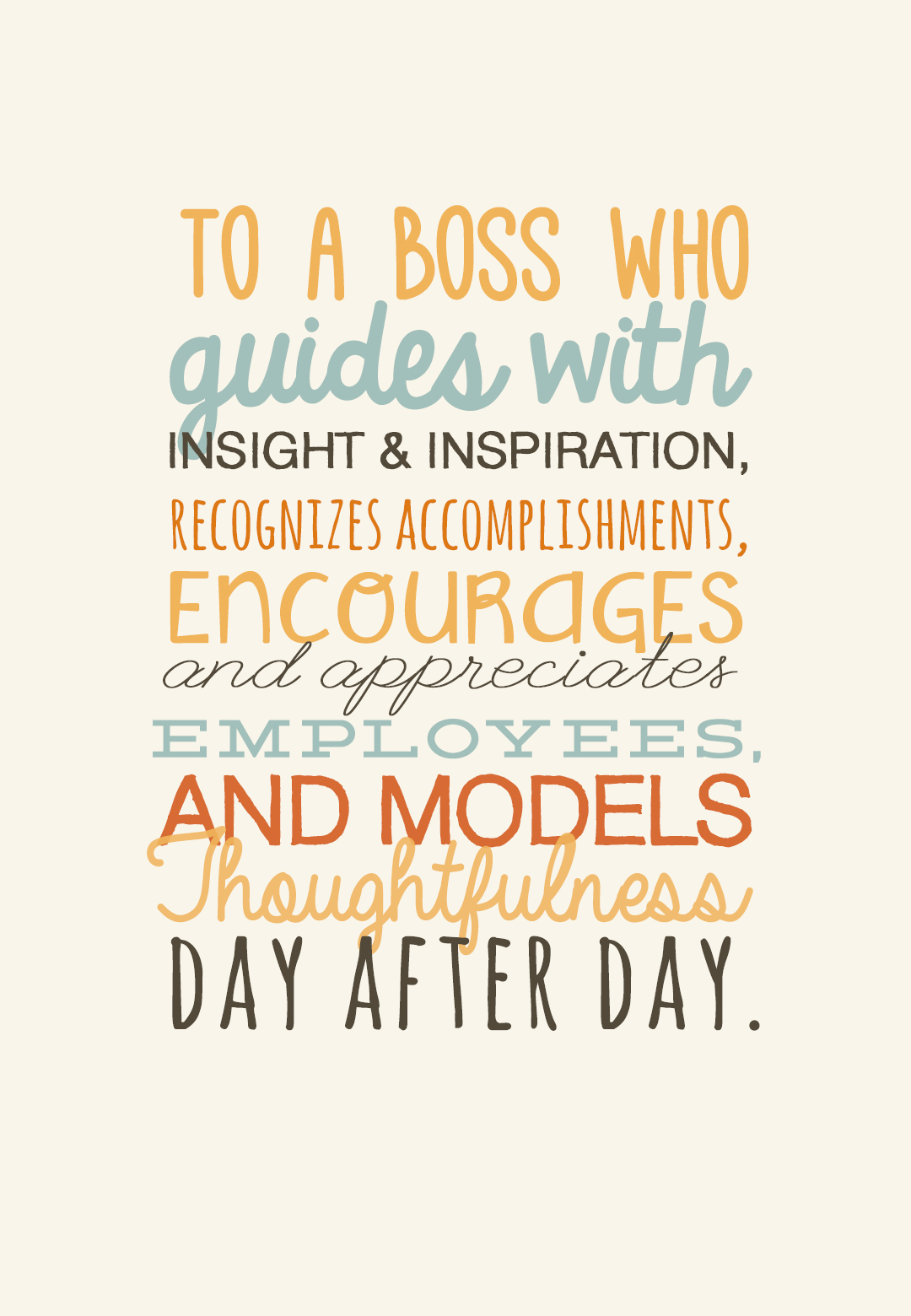 Really Great - Boss Day Card (Free #birthdayquotesforboss