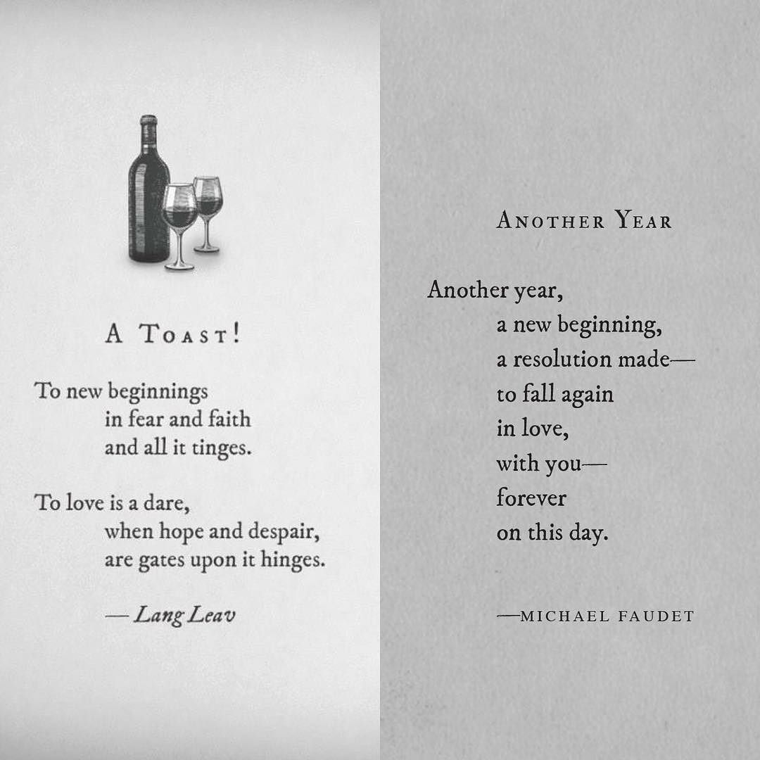 Happy New Year! Two poems side by side from @langleav and ...