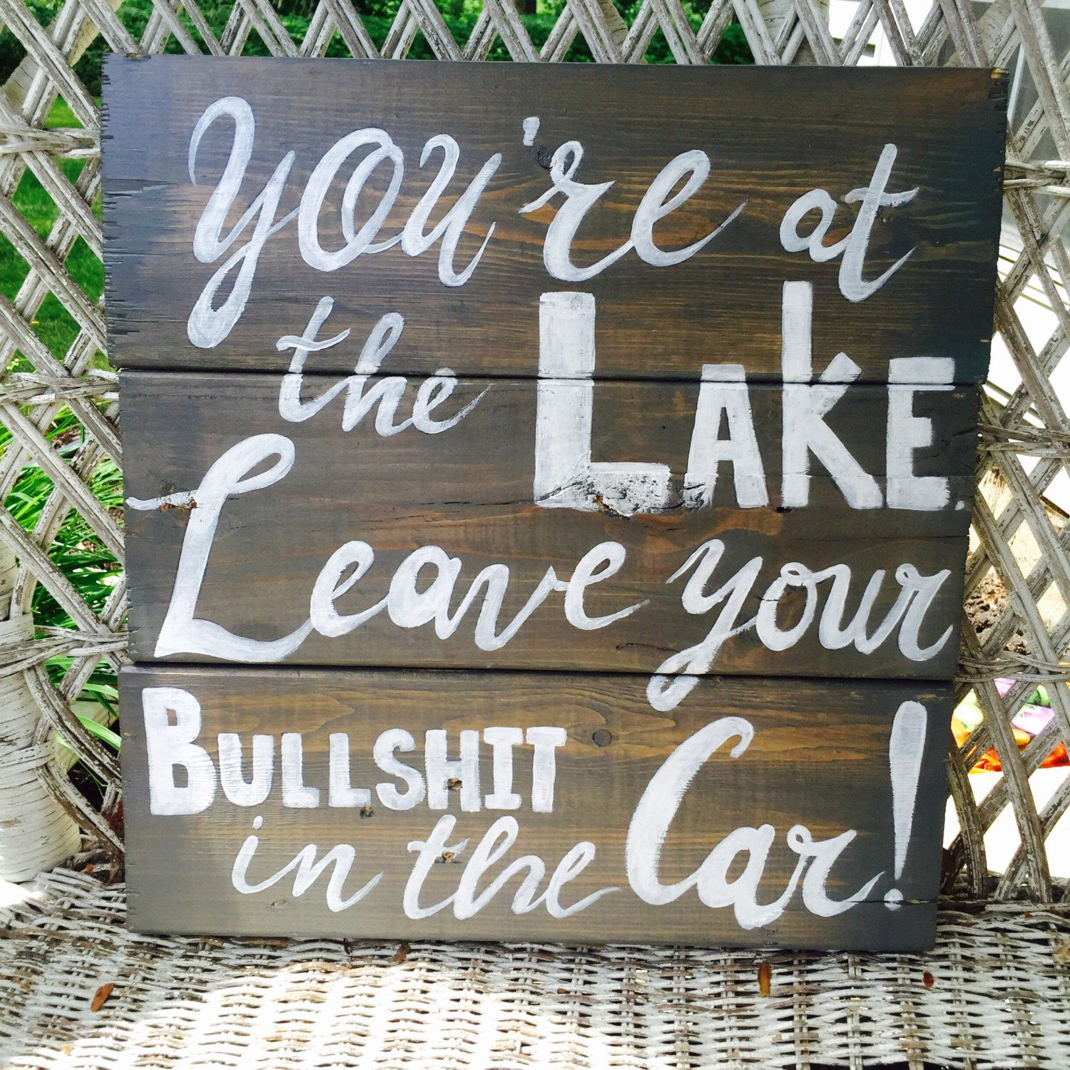 Lake Home Decor Rustic Lake House Sign Personalized Lake Rules Wall