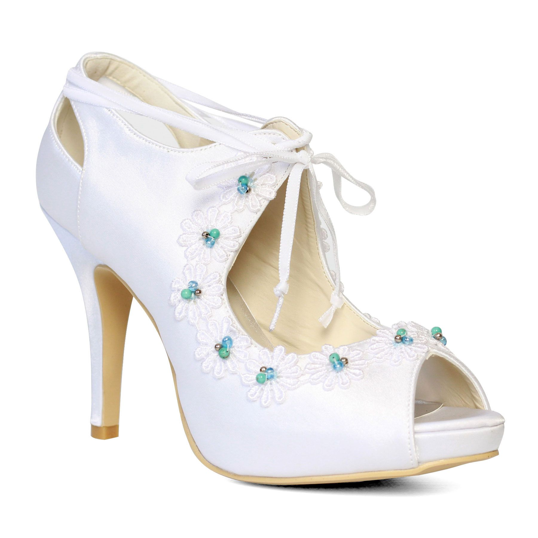 Ella vintage peep toe shoes by forever soles forever soles bridal