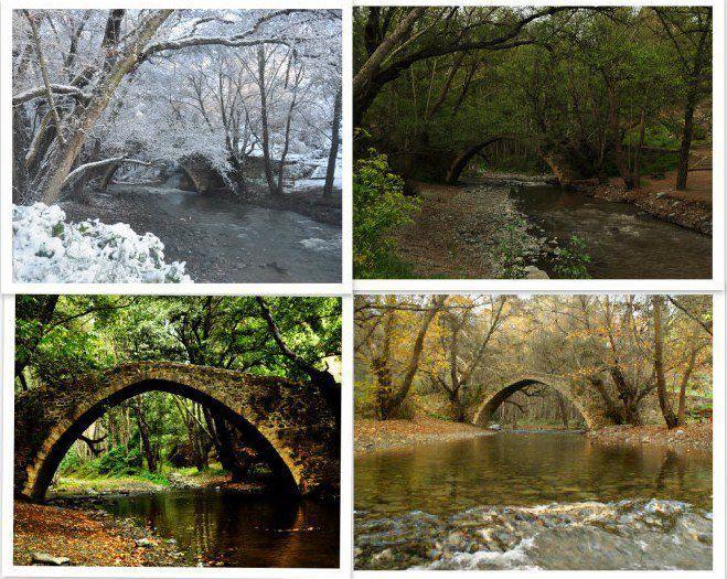 Tzelefos Bridge in 4 seasons | Photo by Galina Guzejeva
