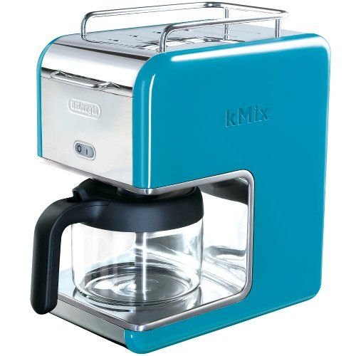 DeLonghi Kmix 5-Cup Drip Coffee Maker, Blue - http://teacoffeestore.com/delonghi-kmix-5-cup-drip-coffee-maker-blue/