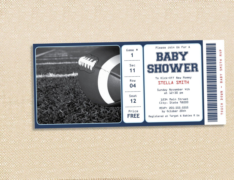 FOOTBALL BABY Shower Invitation   Set Of 15. $18.75, Via Etsy.