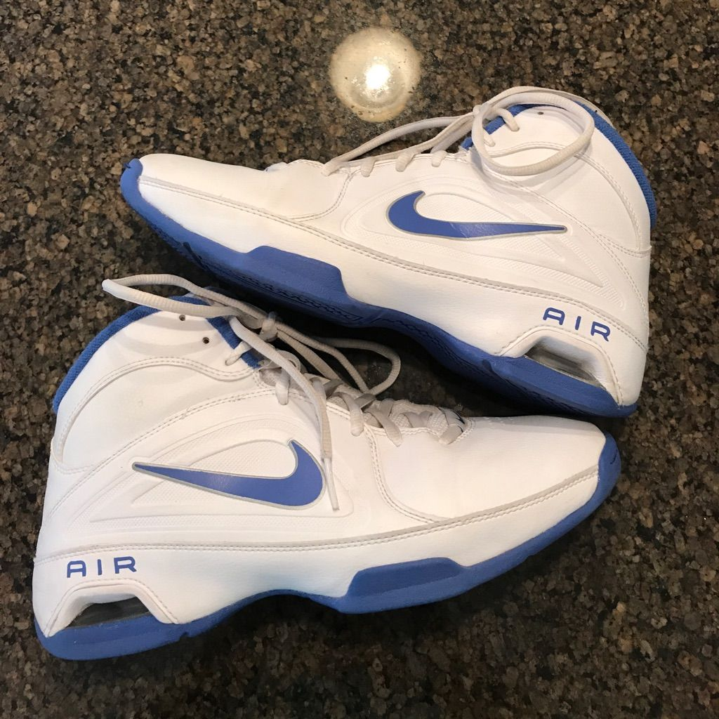 Nike Air Visi Pro 3 White And Blue Basketball Shoe