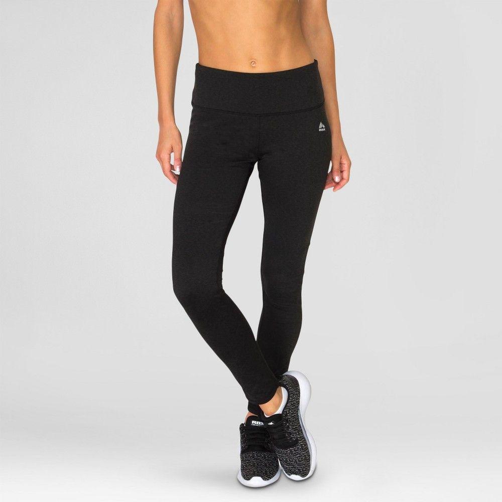 Women's Brushed Back Leggings Black Combo S - Rbx