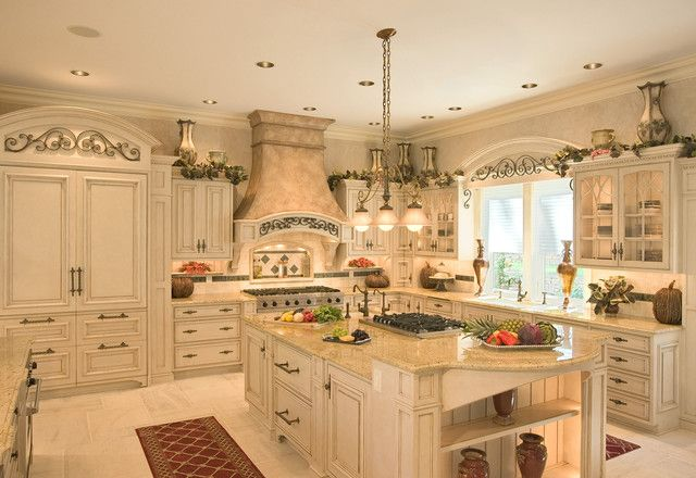 French Country, Light Beige Cabinets