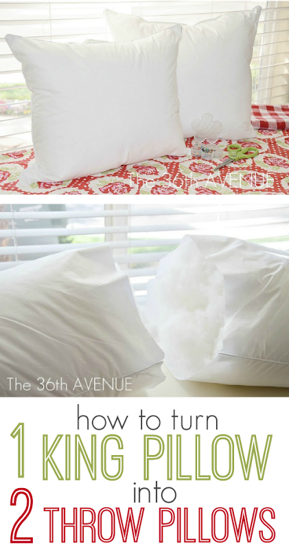 Ready Made Decorative Pillow Covers : Oh yeah! I m not paying $20 for a pre-made pillow form. How to Turn a King Sized Throw Pillow ...