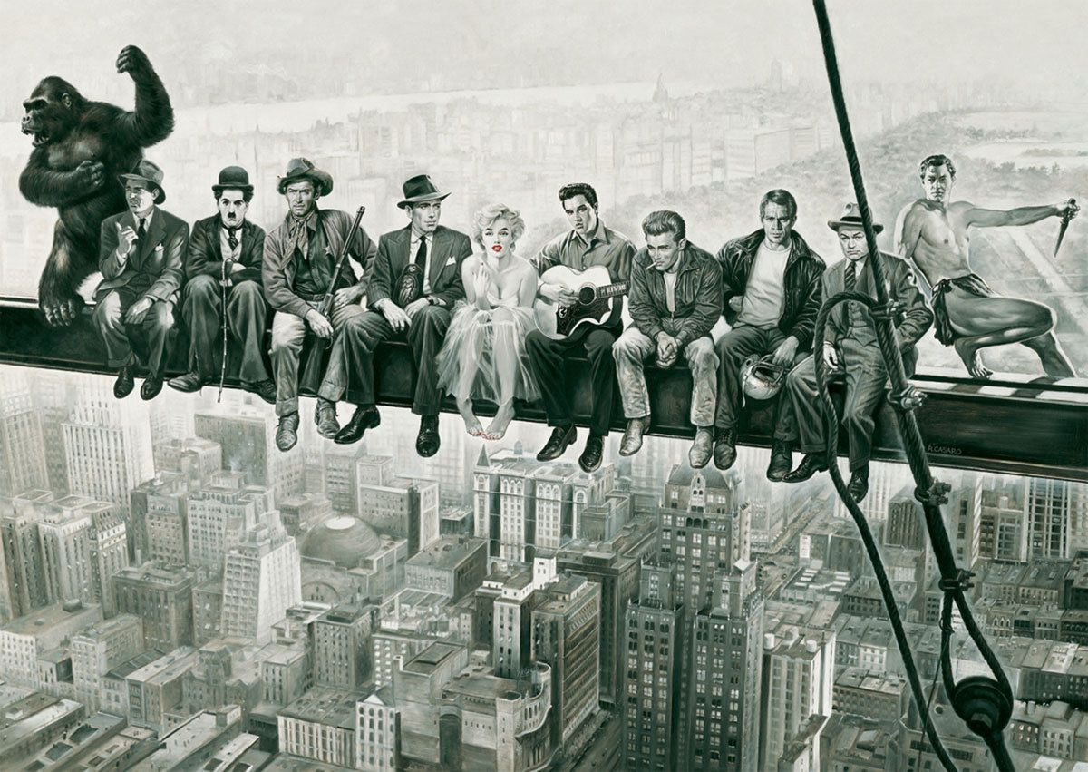 Lunchtime At The Top A Skyscraper York Giant Wall Art Poster Print