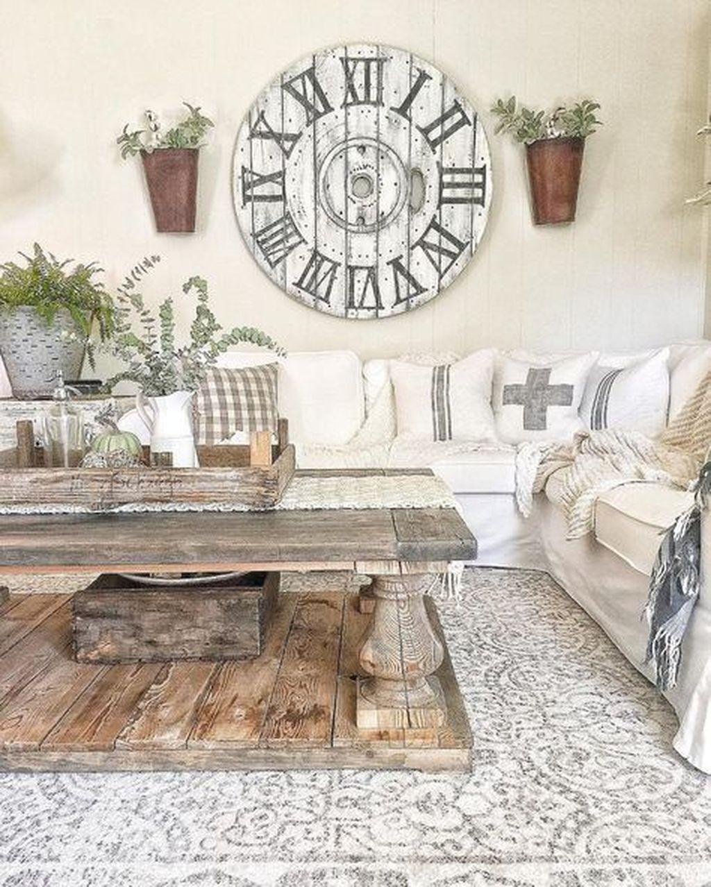 32 Gorgeous French Farmhouse Living Room Design Ideas ...