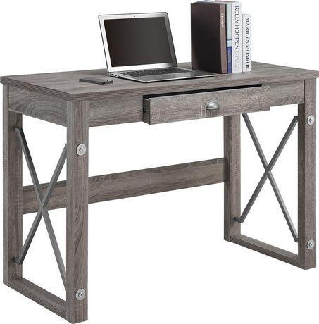 walmart office desk. Writing Desk With Metal Accents | Walmart.ca Walmart Office